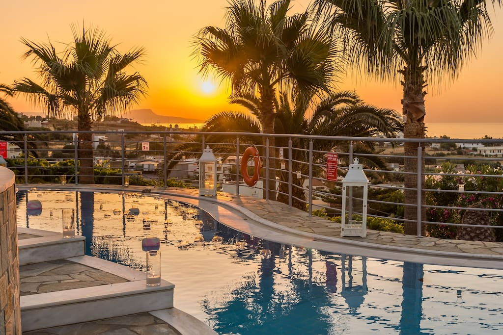 Extraordinary sunset views from our villa