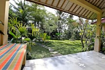 We have a private veranda. You can drink coffee or eat breakfast.
