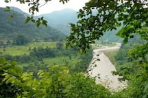 Giving you company is the pristine Ramganga river