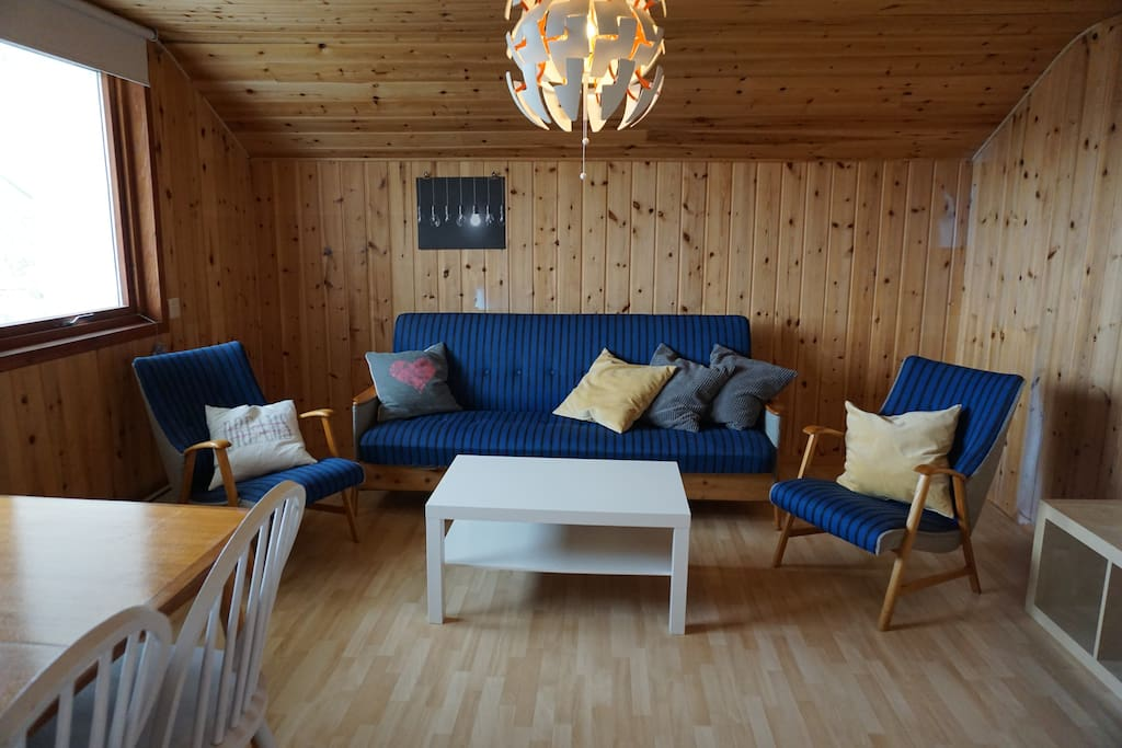 Living room with sofabed.