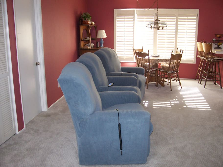 TV room with reclining lift chairs
