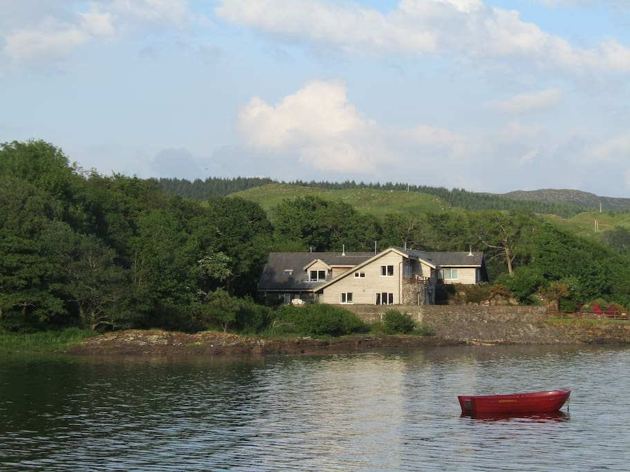 Pier West is right on the shore of Loch Melfort, watch the tide coming in and out .