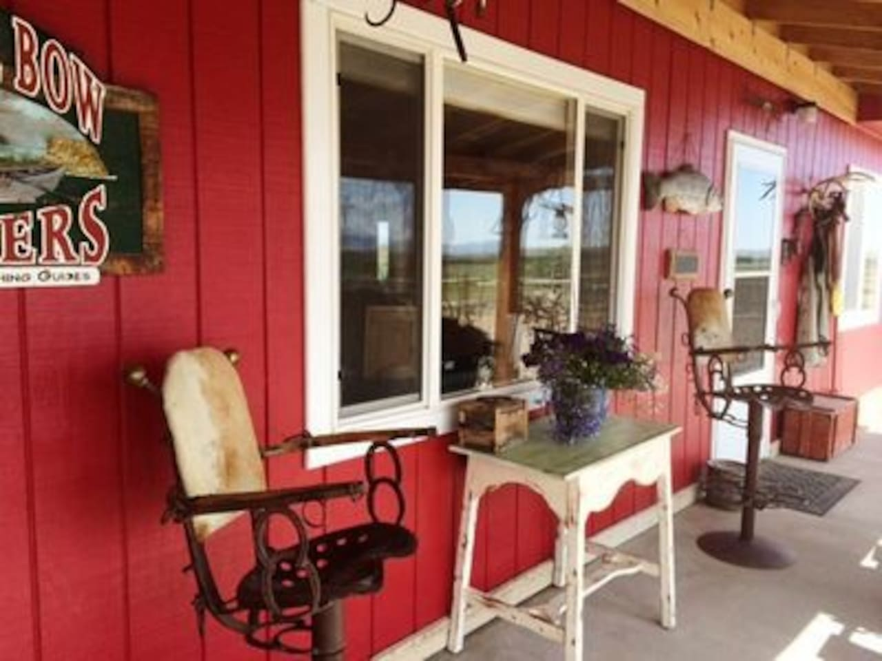 Western front porch with swing