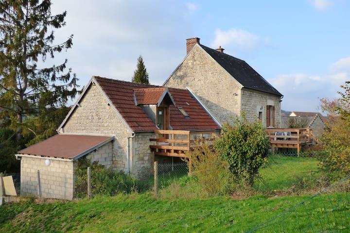 """Le """"Vieux"""" Clos du Val - Chivres-Val - Rumah"""
