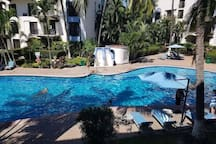 Across from Ocean Sleeps 12 Pool 3 Bedroom+Studio