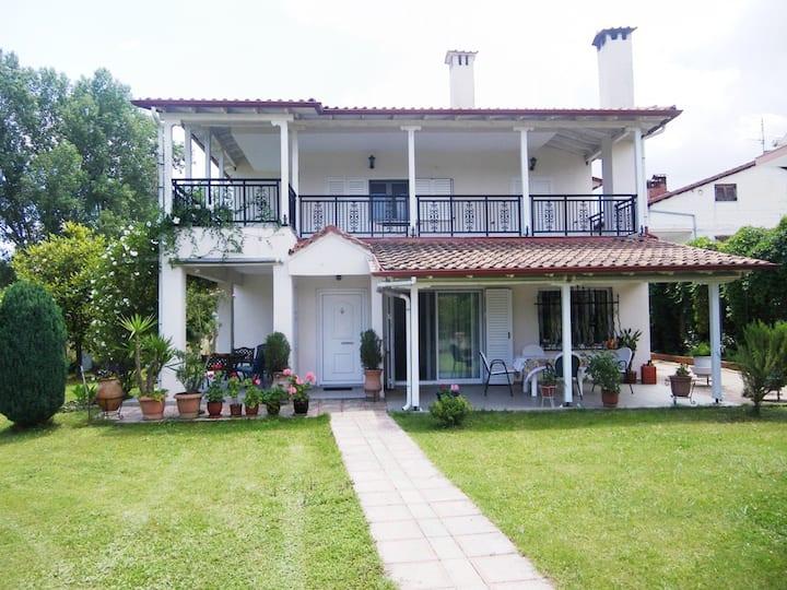 Two-storey villa with garden