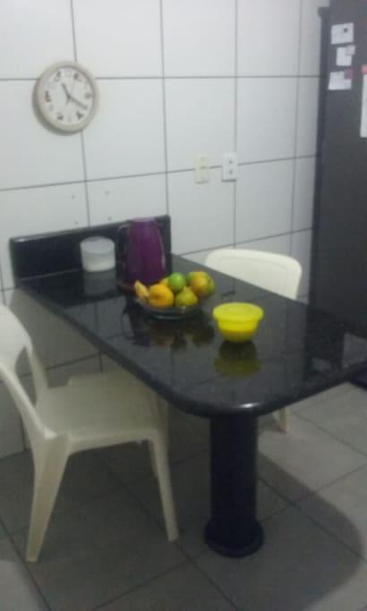 Cozinha arejada