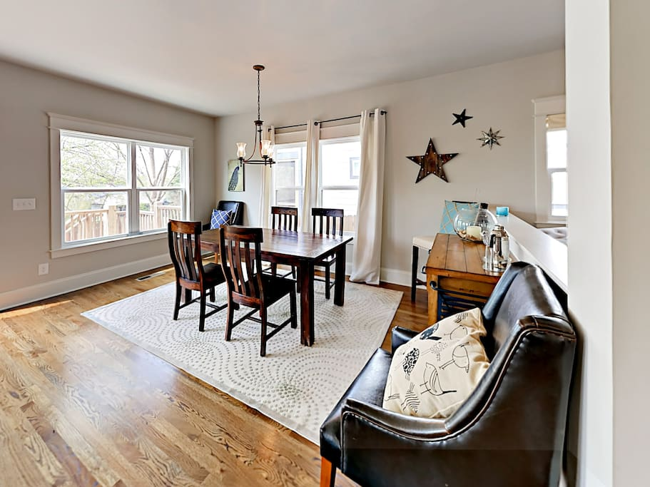 This 2-story property features hardwood floors and plentiful natural light.