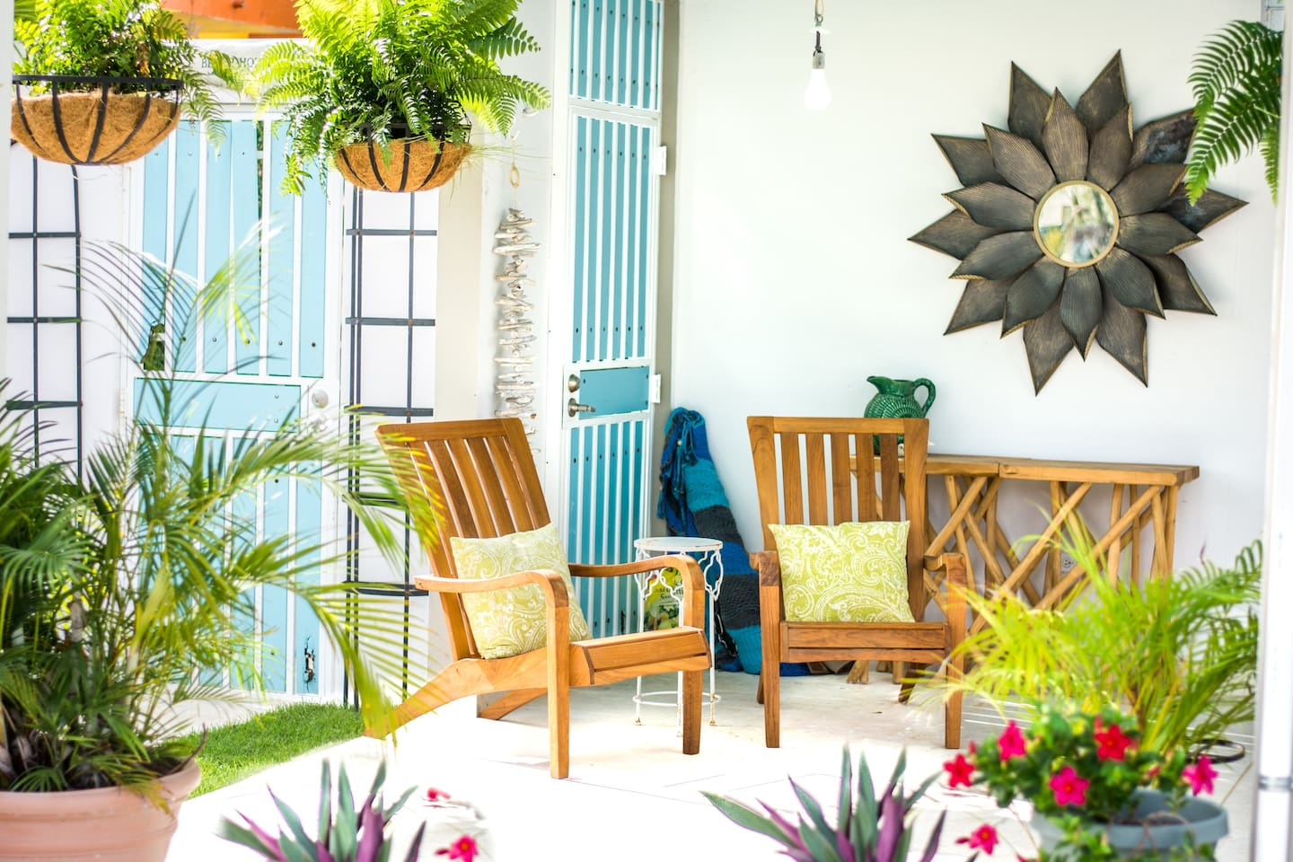 Sip coffee or relax in the hammock on the covered front porch any time of day.