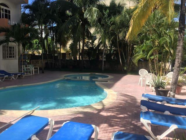 Residencial Caribe (1 bedroom apartment #7) - Juan Dolio - Apartment