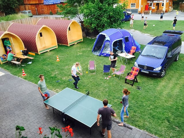 Cosy Camping Pod at Riverside Location - Haiming - Kabin