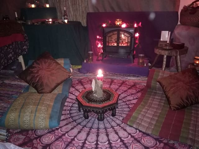 A tribal Inspired Double Room