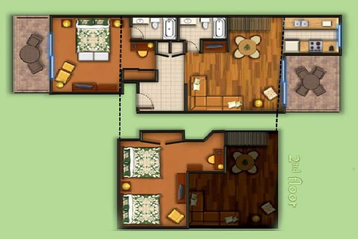 Luxurious Island Getaway at The Cliffs- 2 Bedroom