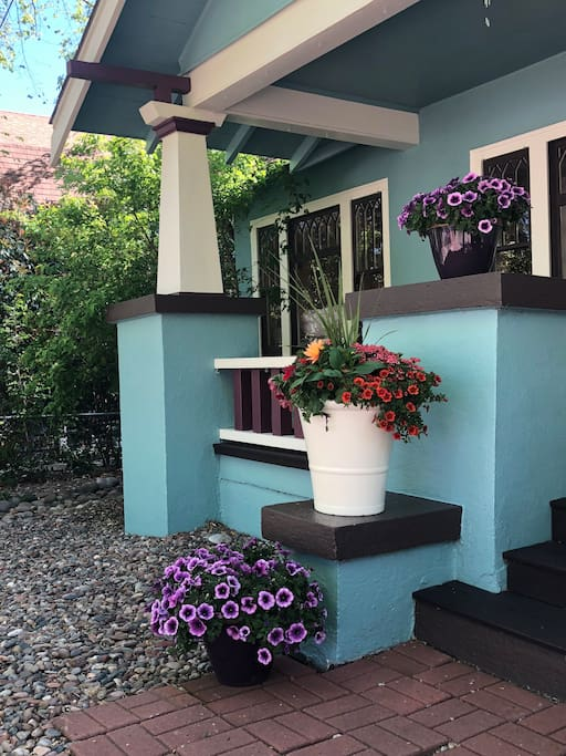 Front Porch in Spring