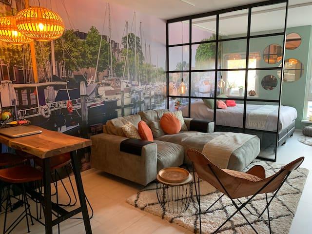 Luxurious mini loft historical center Dordrecht