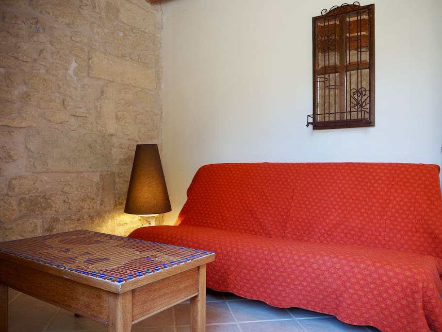 Salon, canapé lit 2 pers.