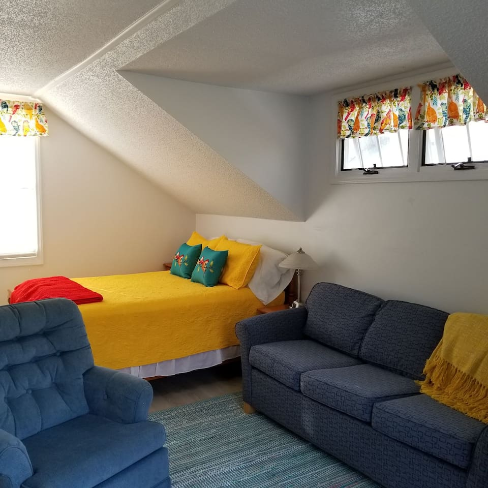 Just updated! New flooring, couch, paint!
