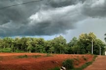 front side of house rain soon..