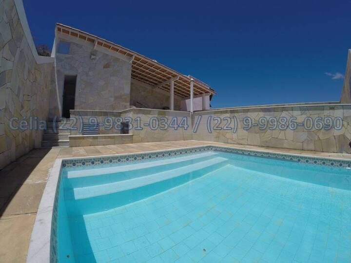 Casa c/ Piscina Cabo Frio Praias do Per