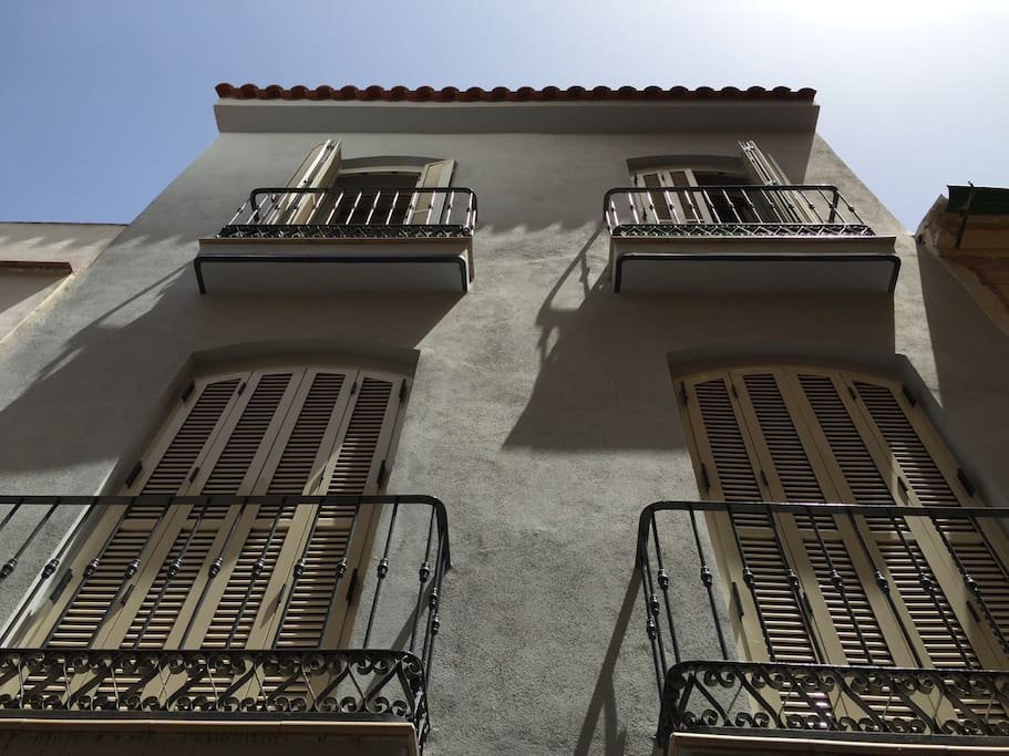 Top two floors of an old Malaga town house.