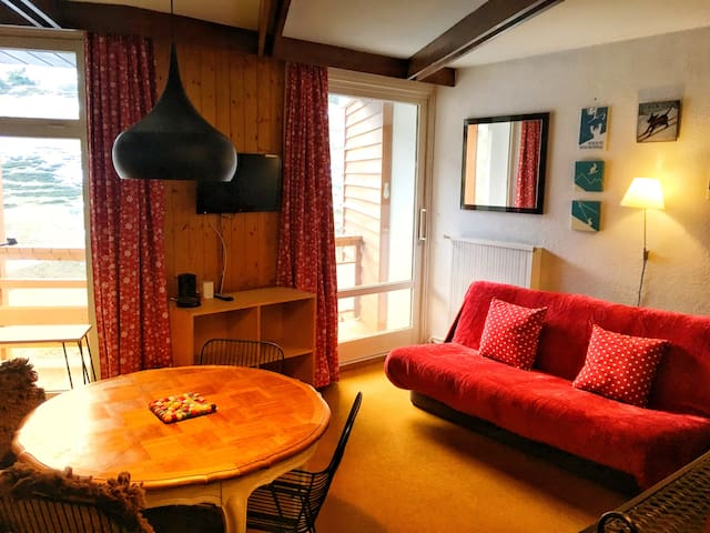 La Mongie, 1 bedroom, south facing balcony, Wifi