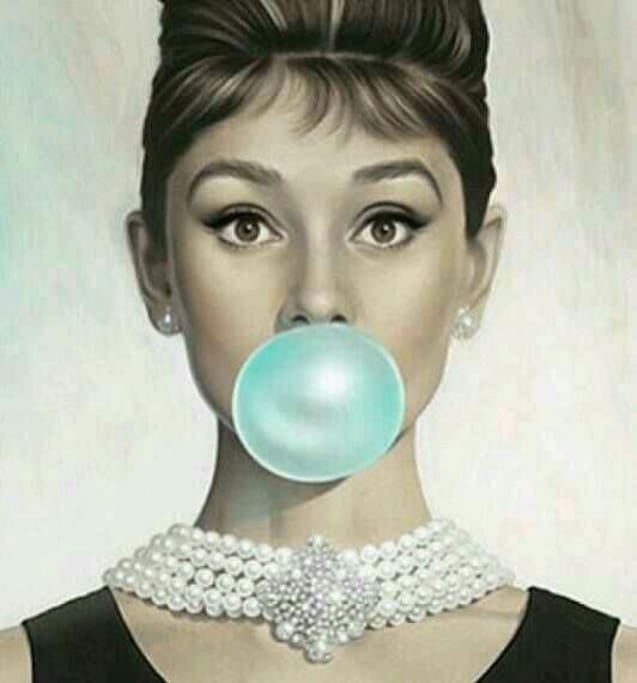 I am in love with this artwork!! Audrey is one of a kind...
