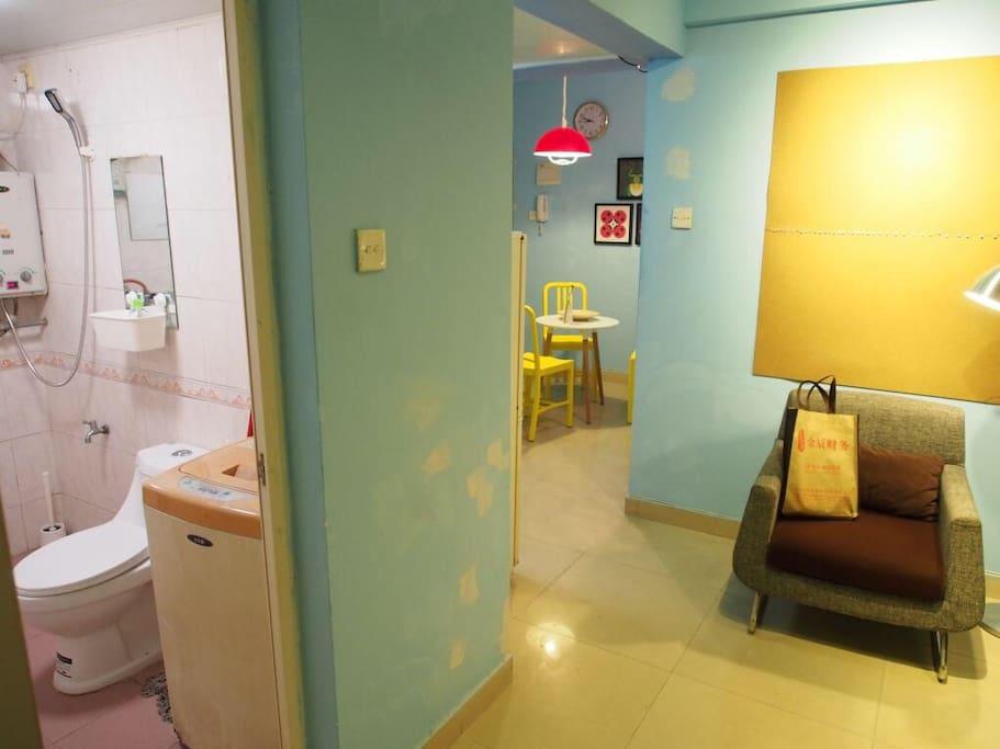 一卫,卫生间,一厅,客厅