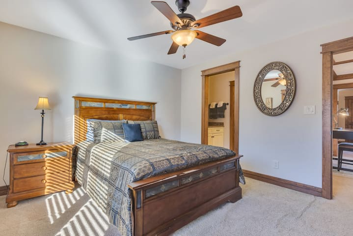 ★ Queen Sized Bedroom upstairs w/ private sink and changing area...bathroom is shared with next bedroom ★
