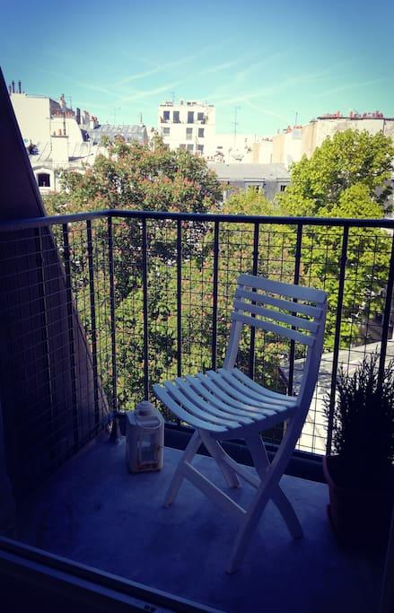 Balcon du salon sur jardin