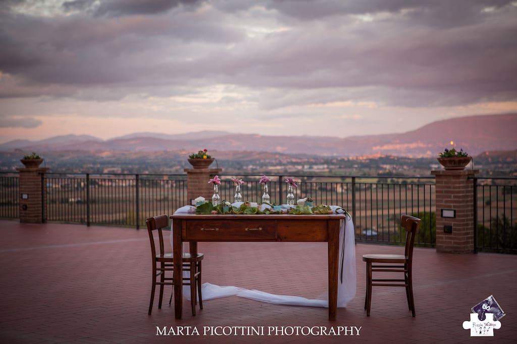 Panorama terrazza su Assisi