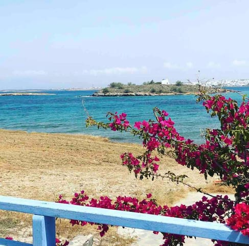 Seaside view apartment paros