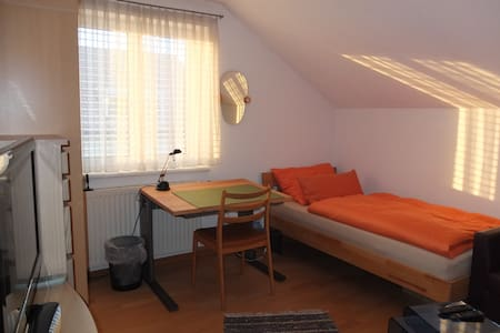 Single Room with fast WIFI and TV - Dornbirn