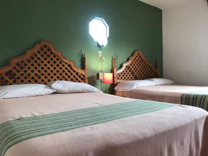 Acogedora habitación doble con vista y Temazcal!