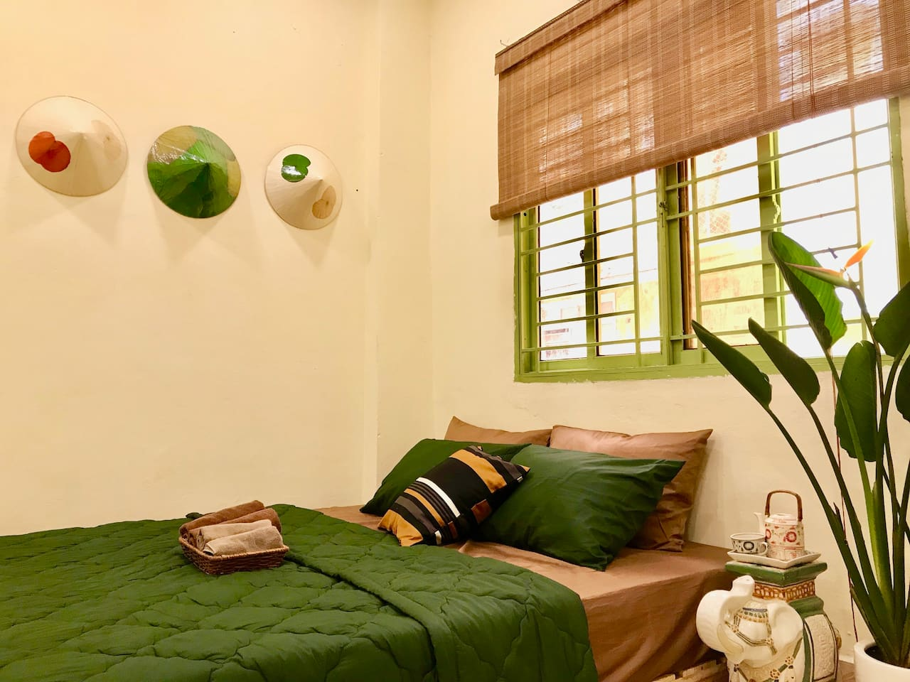 My apartment is an unit in an old apartment building which was  built in the French colonial period in Vietnam. The apartment is designed in the style of  the old Saigon to bring the most realistic image of Saigon into the living space of you