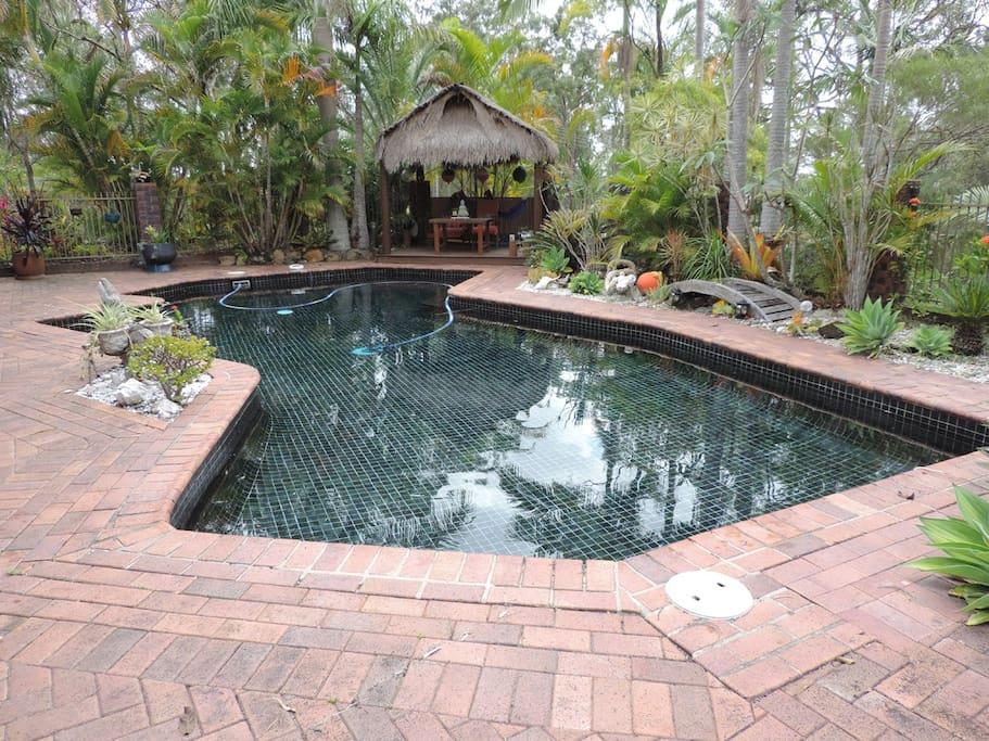 Pool and Bali Hut - a quiet retreat