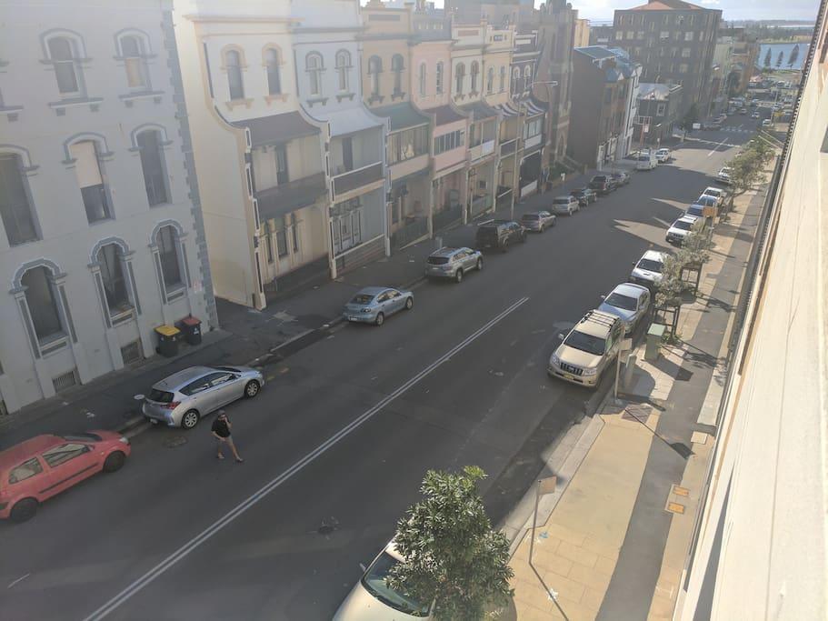 View from the balcony on Watt Street