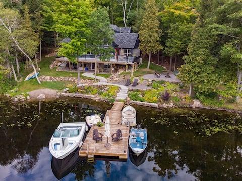 Newly built retreat unit on Stoney Lake.