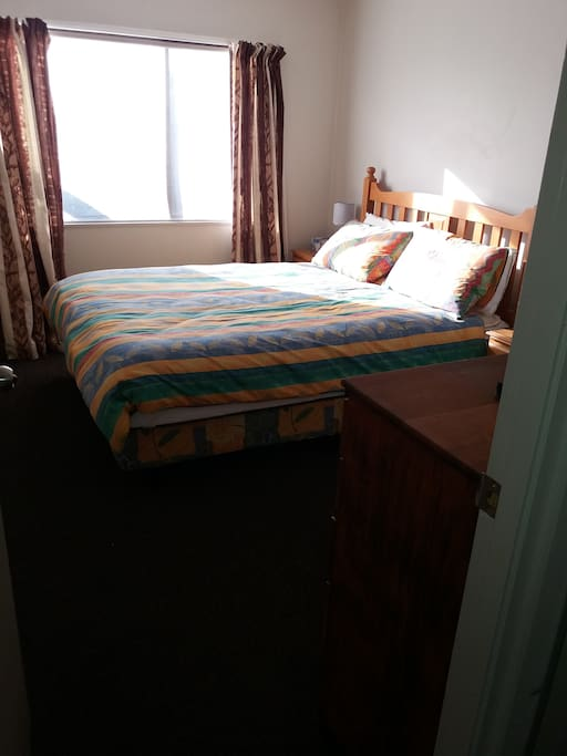 Bedroom and Queen bed