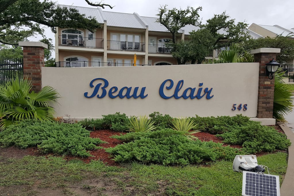 Front entrance of Beau Clair condo's