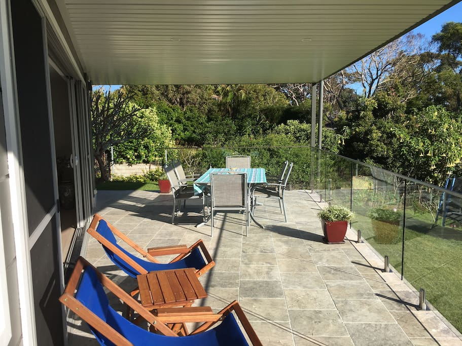 Relax on the spacious covered deck....