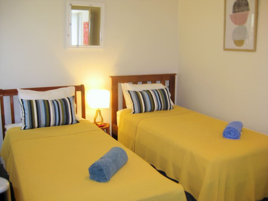 Cosy 2nd bedroom with complete privacy and walkin wardrobe.