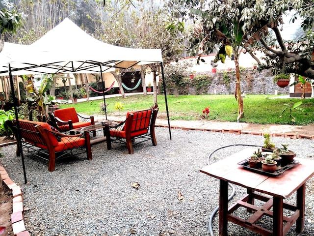 Habitación amplia y exclusiva con hermoso jardín