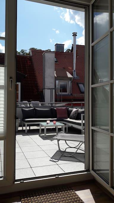 Dachterrassen-Austritt