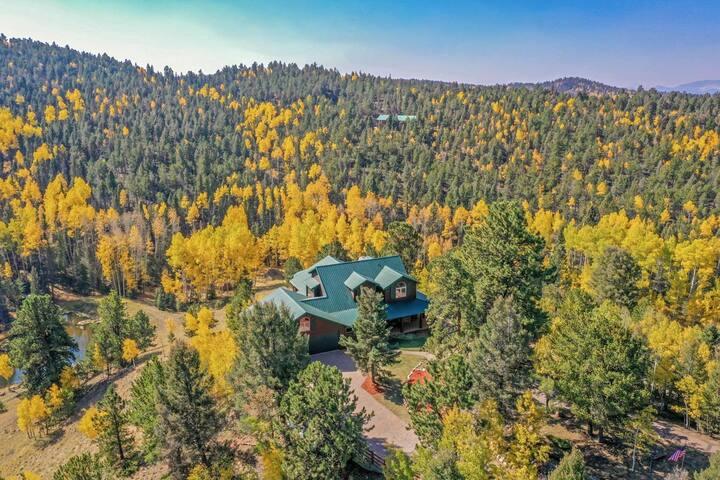 Awesome Mountain Retreat on 35 acres with private pond, Wifi, Smart TV, Gourmet Kitchen, Gazebo