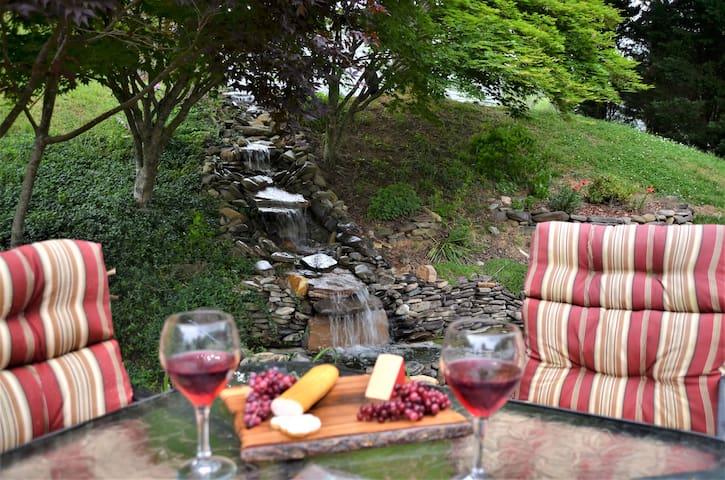 Enjoy the common back patio