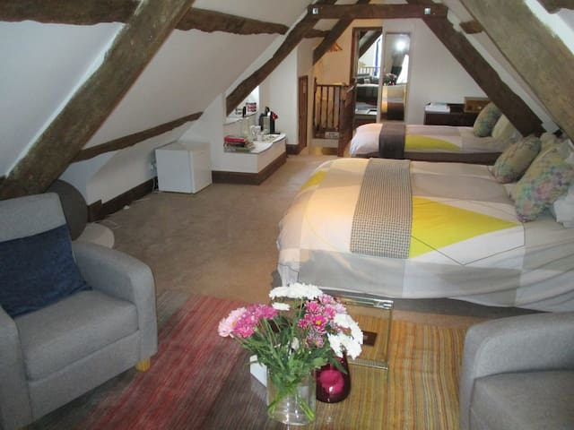 B+B a room that is AWESOM-5 guests. Exeter 15 mins - Broadclyst - Bed & Breakfast