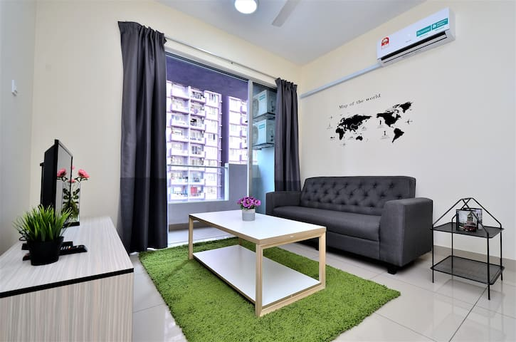 【Just Home】2 Bedroom | 8km KL city | 2-8 Pax |中文房东