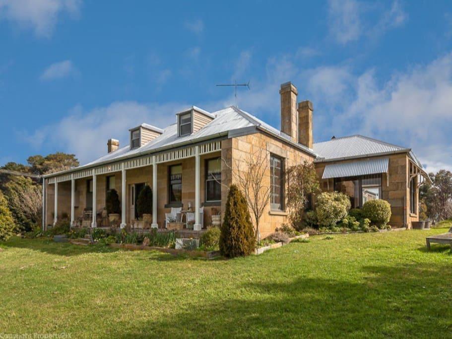 Heritage listed 1800s sandstone homestead