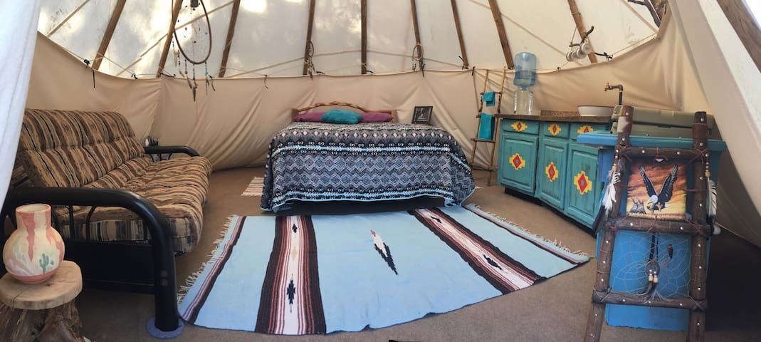 The interior of the Tee Pee is spacious and comfortable.