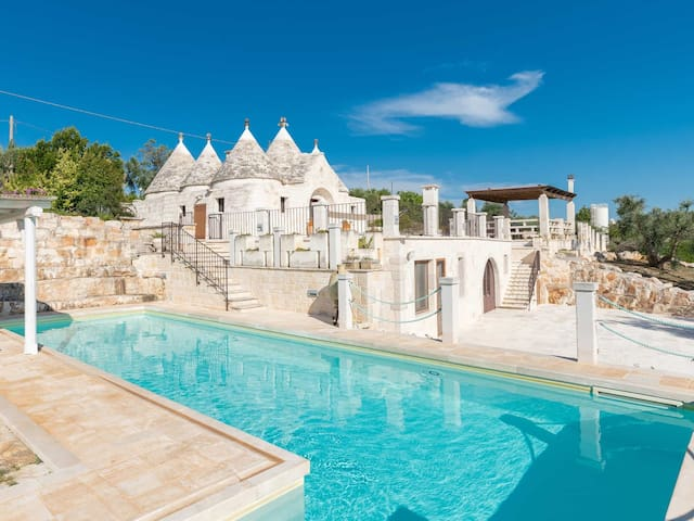 Modern trullo with spectacular view